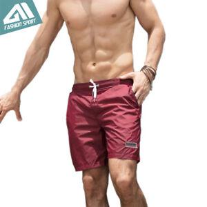 Quick-Dry-Men-039-s-Swim-Shorts-Summer-Board-Shorts-Surf-Swimwear-Beach-Short-Trunks