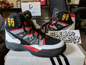 Adidas Originals Dikembe Mutombo Retro OG White Black Red Yellow 55 ... cba4d921c9
