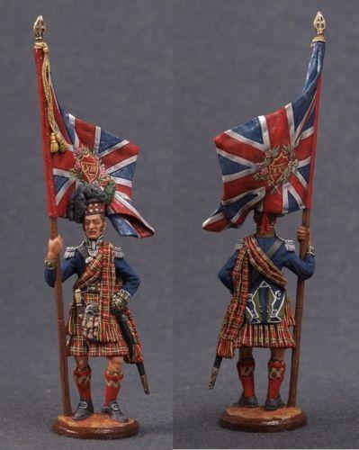 Juguete de estaño soldados de élite pintado de 54 mm estándar escocés-Portador