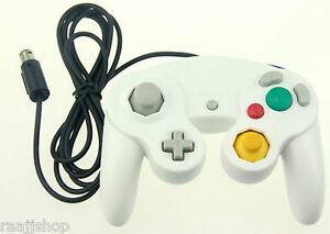 NEW-WHITE-WIRED-CLASSIC-CONTROLLER-JOYPAD-GAMEPAD-FOR-NINTENDO-GAMECUBE-GC-amp-Wii