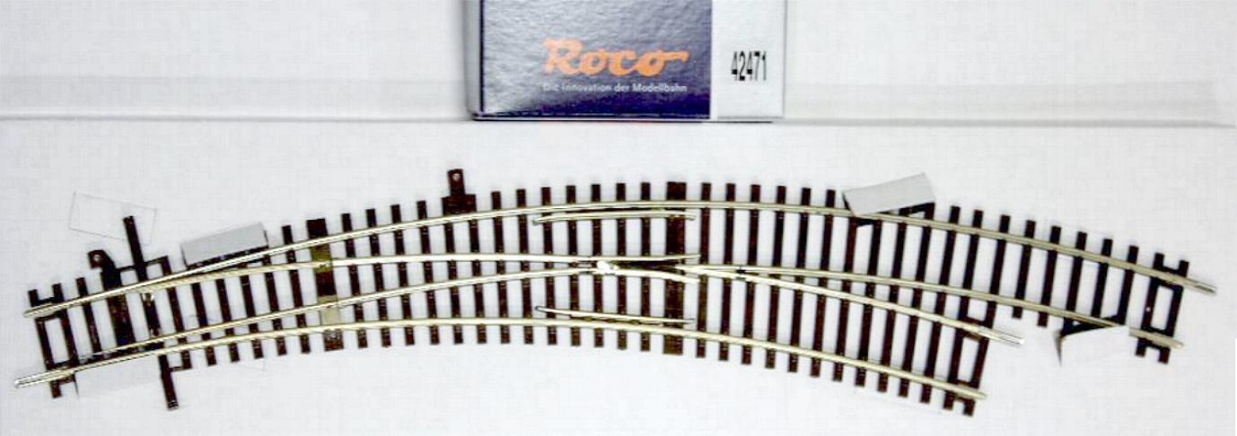 Roco 42471 42471 42471 H0 - Bogenweiche rechts BWR- 5 6 NEU & OvP  | Tragen-wider  354c84