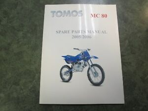Details about 2005-2006 Tomos MC 80 Spare Parts Manual