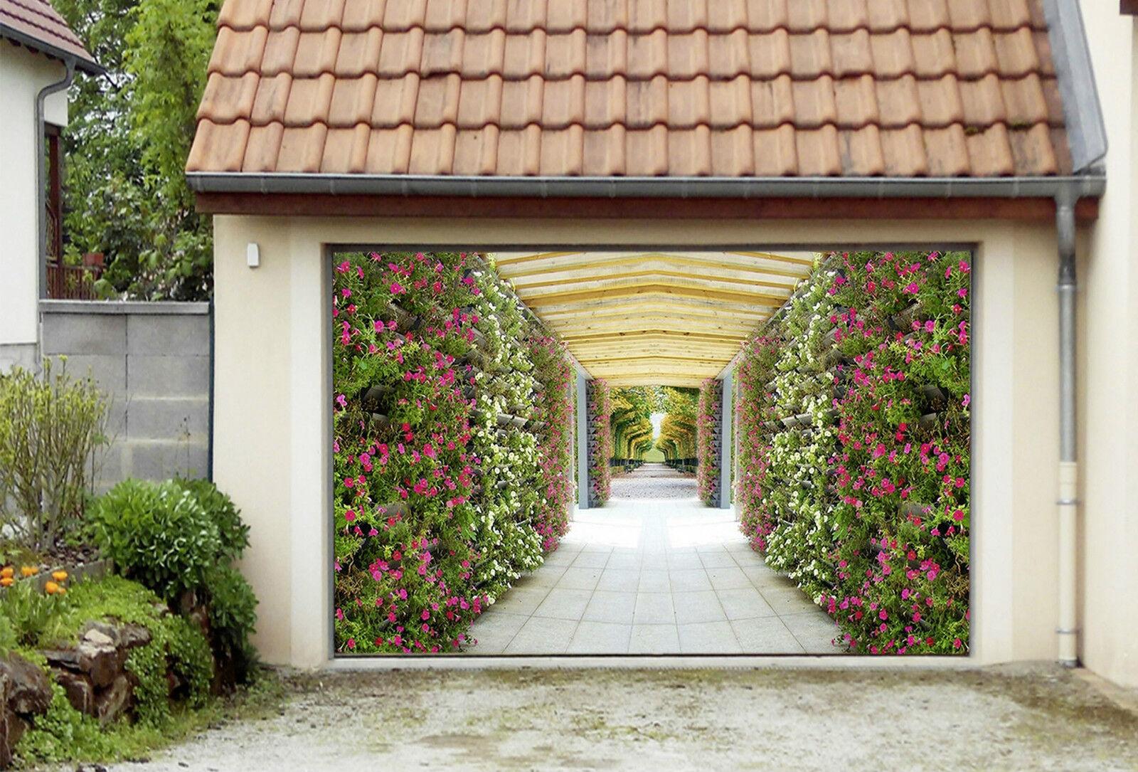 3D Canale Fiore 81 Garage Porta Stampe Parete Decorazione Murale AJ WALLPAPER IT