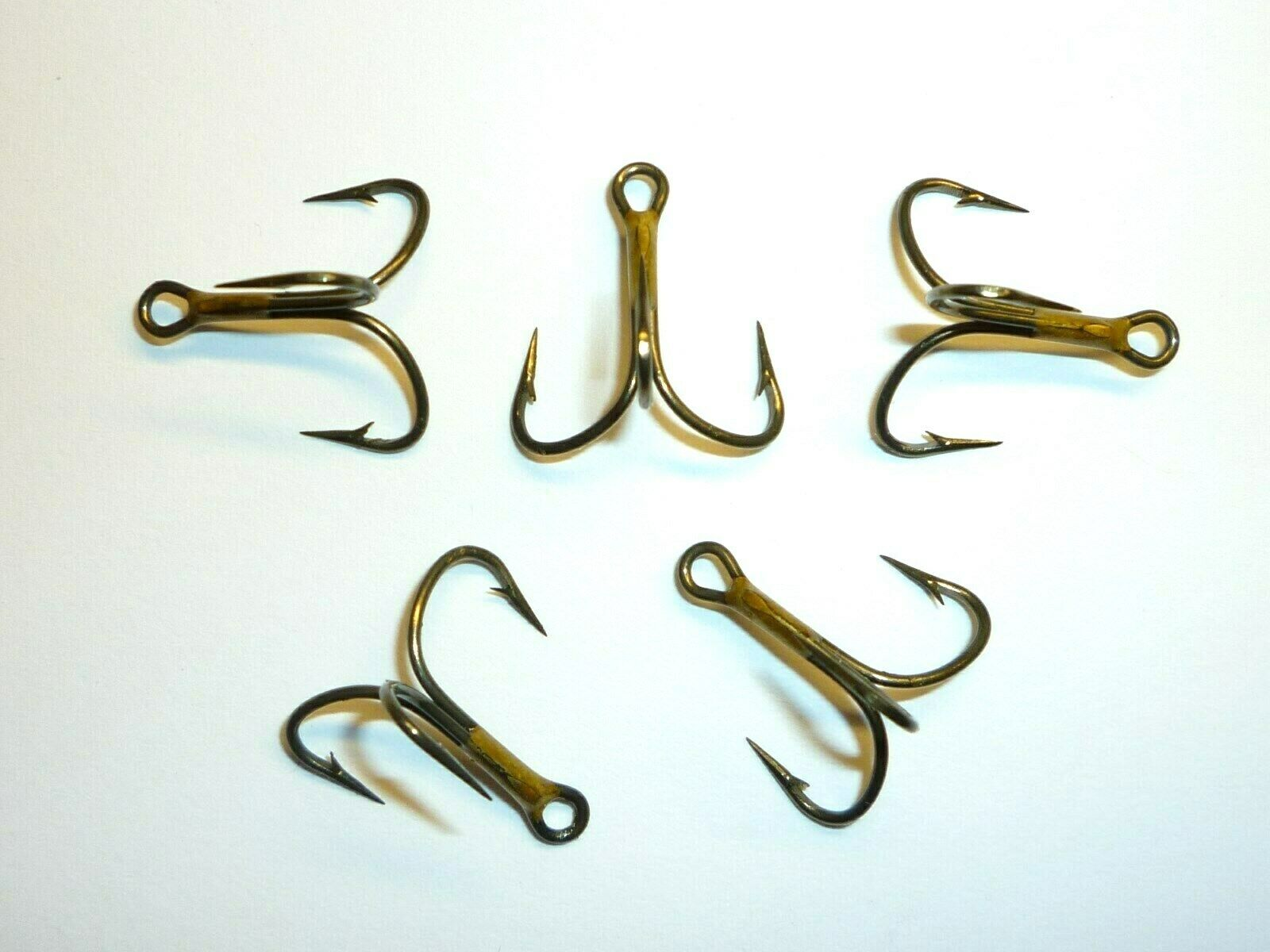 New Bag of 25 Eagle Claw Size 10 Bronze Treble Fish Hooks