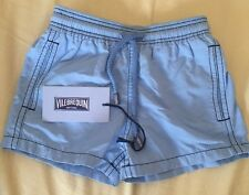 Vilebrequin Moorea Swim Trunk Toddler Boys Size 2 Ans Solid Blue Stitched NWT