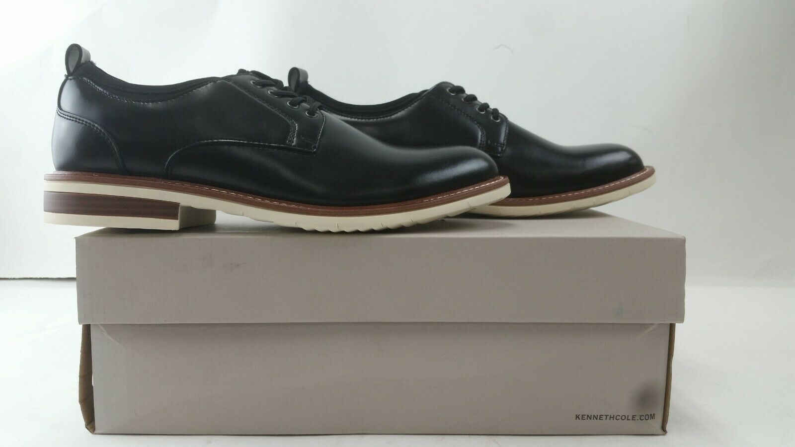 NEW Kenneth Cole Men's Klay Lace Up G with a Flexible Sole Oxford, BK 9 M