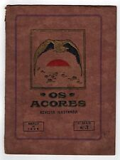 Rare 1928 OS ACORES Azores Portugal REVISTA ILUSTRADA Illustrated PORTUGUESE