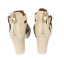 thumbnail 6 - Womens Ladies Beige Faux Leather High Heel Peep Toe Sandals Shoes Size UK 3 New