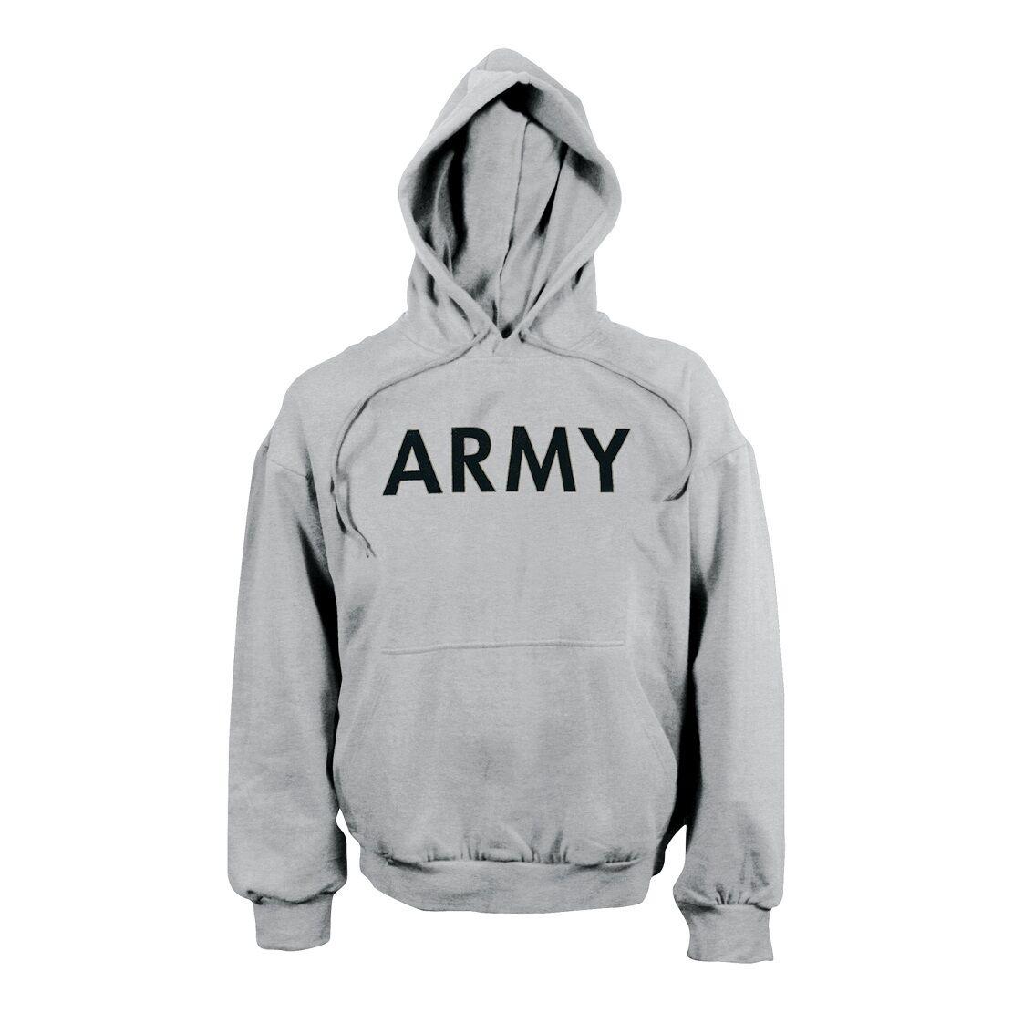 Army Hoodie con Cappuccio Sport Shirt US SPORT HOODY FELPA GRIGIO XL