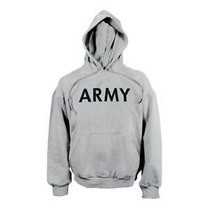 Army Hoodie Capuche Sport Shirt Us Sport Hoody Sweatshirt Gris Xl/xlarge-afficher Le Titre D'origine