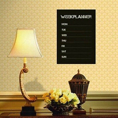 Weekly Planner Calendar Memo Chalkboard Blackboard Vinyl Wall Sticker Decals