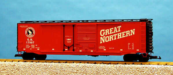 perfecto USA Trains Trains Trains G Escala 50 Ft Enchufe Doble Caja De Acero Coche R19305C Great Northern-Rojo  comprar mejor