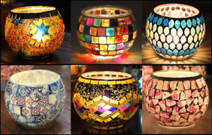 Decorative Colorful Glass Votive Tealight Candle Holder For Wedding Party Decor