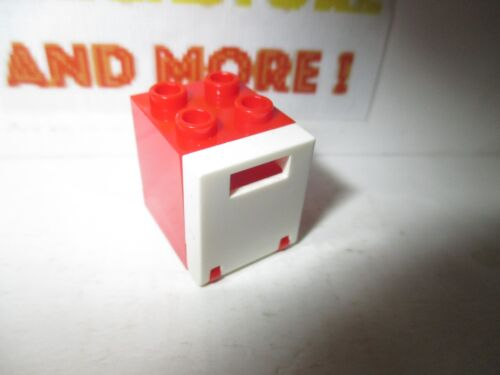 Lego 1x Container Box Boîte 2x2x2 4345 Red//Rouge//Rot 4346 White//Blanc//Weiss