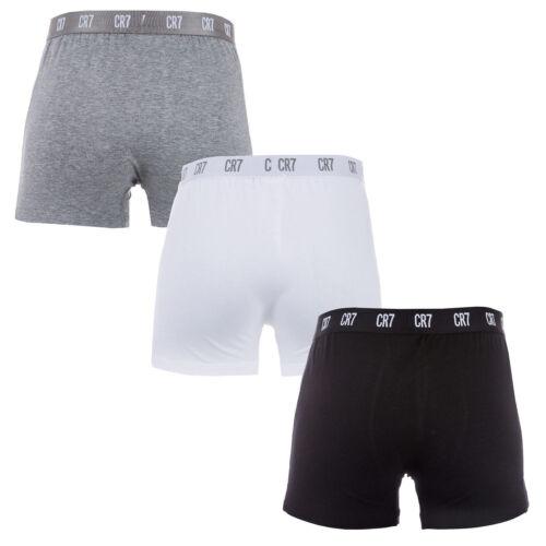 Cristiano Ronaldo 3 Pack Cotton Trunks CR7 New Authentic Mens Underwear