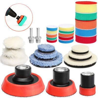 6 Inch Polishing Buffer Wool and Wheel Polishing Pad Woolen Polishing Waxing Pads Kits with Drill Adapter for Car Polisher 1Set