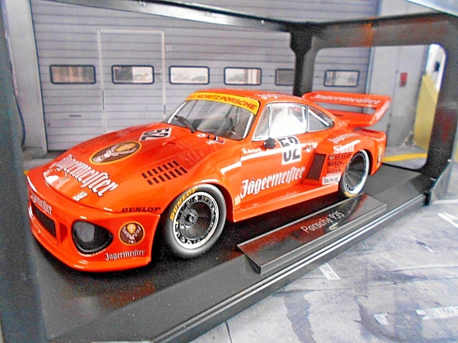 PORSCHE 935 Turbo  52 SCHURTI Jägermeister MAX Moritz DRM 1977 Zolder NOREV 1 18