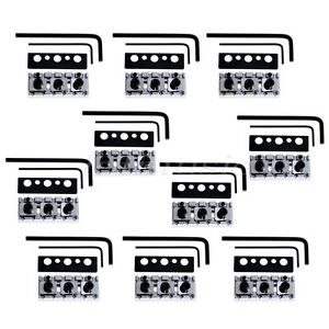 10pcs electric guitar shim adjust locking nut 6 string chrome 634458561853 ebay. Black Bedroom Furniture Sets. Home Design Ideas