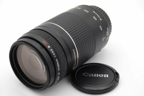 Canon EF 75-300mm f//4-5.6 USM Ultasonic Macro II III Lente zoom telefoto.