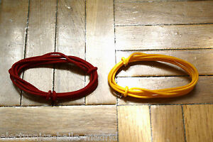 GAVITT 2 Mt RED & YELLOW GUITAR ELECTRIC 22 AWG VINTAGE CLOTH COVERED WIRE -