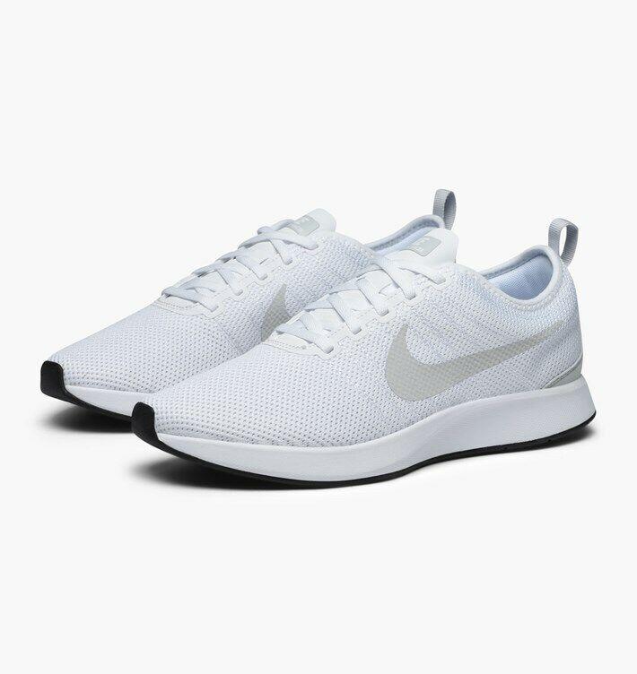 Mens Nike Dualtone Racer Weiß Gym Running schuhe Trainers 918227 102 UK 11 EU 46