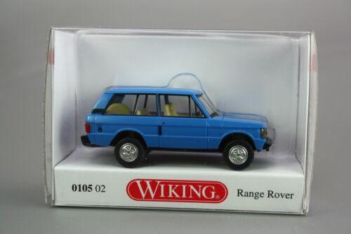 Wiking H0 1:87 Automodell Range Rover blau 0105 02 NOS NEU OVP