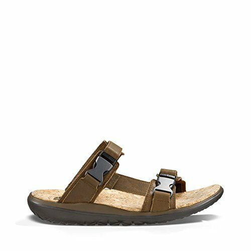 78cc26a3a185 Teva Mens Terra-float Lux Leather Slide Dark Earth 11 M US