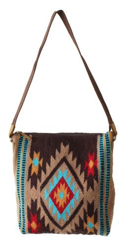 Women/'s Western Handwoven Wool Rodeo Cowgirl Handbag Shoulder Purse Tote 10302