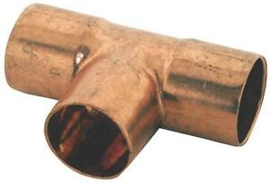 """NEW LOT OF (5) ELKHART 32818 USA COPPER 1"""" TEE SWEAT PLUMBER FITTINGS 4213039"""