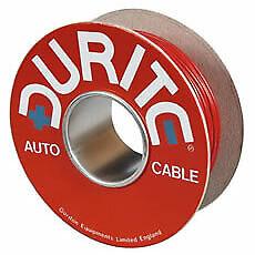 Durite 094203 0-942-03 Cable 1mm² único 14//0.30mm Marrón PVC 50 metros de cable