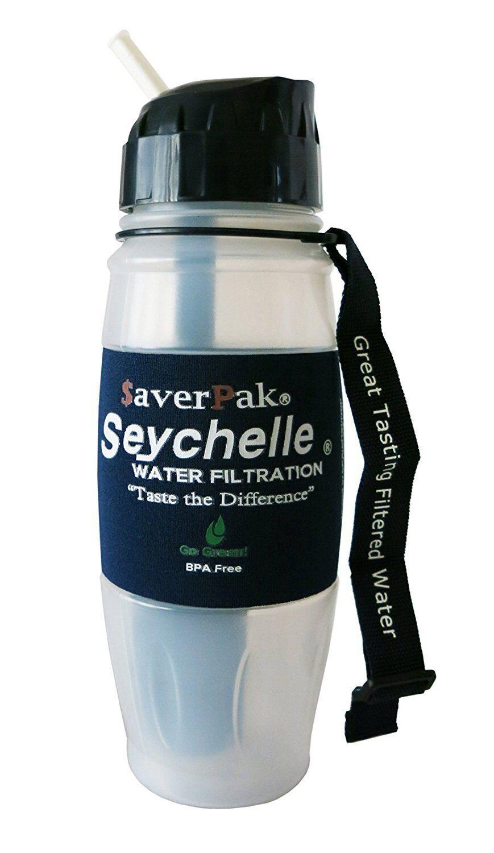 averPak Single - Includes 1 Seychelle 28oz Alkaline pH2O Flip Top Filter Bottle