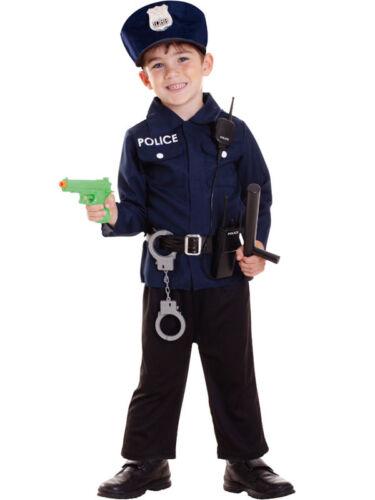 Child Policeman Fancy Dress Costume US Cop Police Officer Uniform Accessories
