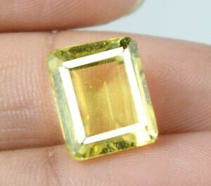 Fresh Arrival 13.10 Ct Yellow Sapphire Natural Gems Emerald Cut Certified A25658