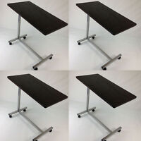 Lot Of 4 Defect Hospital Overbed Table Laptop Food Tv Dinner Table Brown