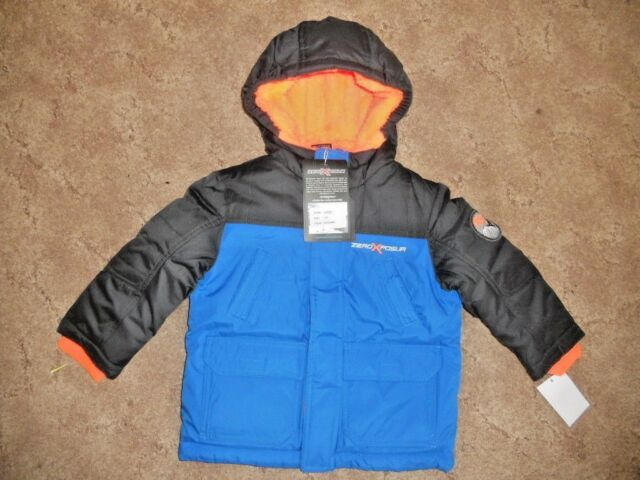 dependable performance hot-selling authentic shoes for cheap ZeroXposur Toddler Boys Size 2 2T Blue Winter Coat Jacket Hood Heavyweight  NWT