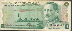 Guatemala-1-Quetzal-1973-P59a-VF-B4909345F