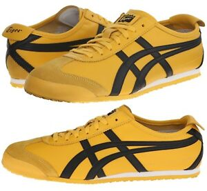 timeless design 10e18 fdf06 Details about Asics Onitsuka Tiger Mexico 66 Yellow Black Sneakers Men's  Lifestyle Shoes