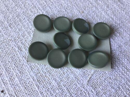 Knöpfe Konvolut Knopfsammlung 10 Stück 20 mm grau Neu