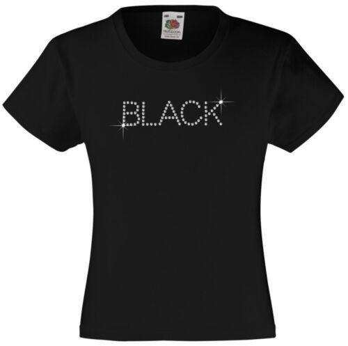 "Rhinestone /""Skull /& Sword/"" 3-15 Yrs 12 Colour options Girl/'s T-Shirt"
