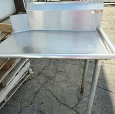 Commercial Stainless Steel Right Side Clean 36 Dish Washer Table 3 Dishwashing