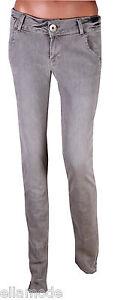 Fenchurch-Mujer-Gris-Ajustado-Elastico-Vaqueros-Nuevo-Con-Etiqueta-71-1cmL