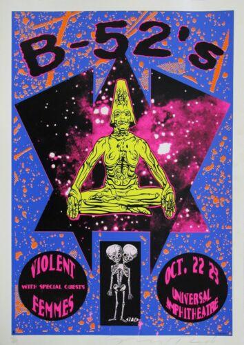 Concert VINTAGE BAND Music POSTERS Rock Travel Old Advert #ob b-52s