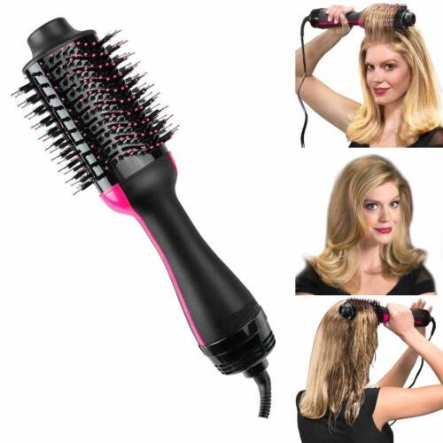 2in1 Heißluft Lockenwickler Haartrockner Styling Roll Haarbürste Kamm Hairdryer