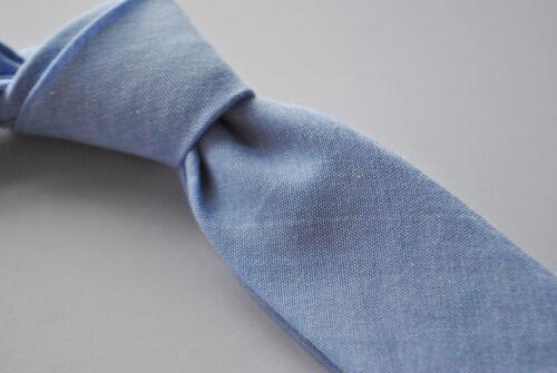Frederick Thomas Hellblau Skinny Leinen Stil Krawatte FT1810