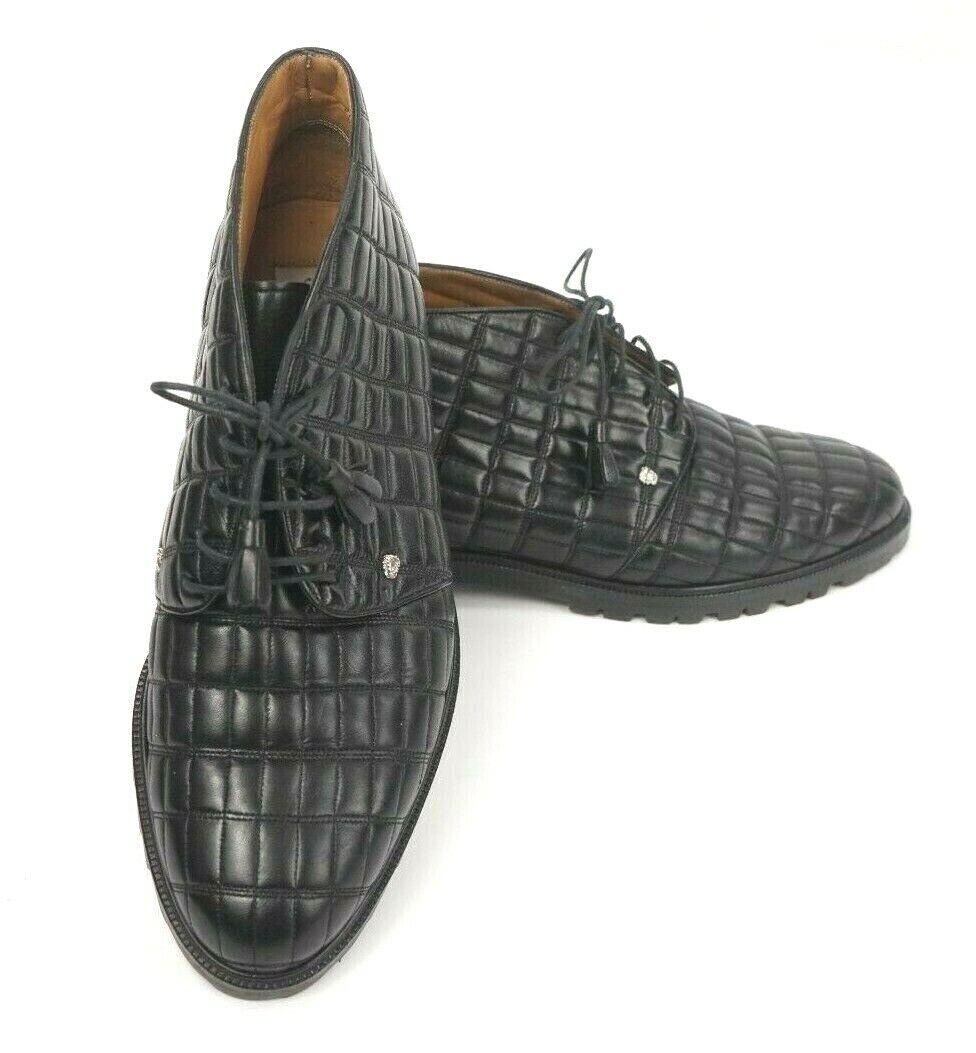 Mezlan Medusa Hombre Cuero Negro Acolchado Head Chukka botas Tamaño 9 1 2 M