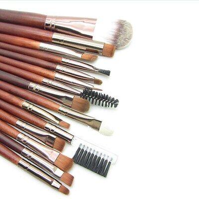 MakeUp Kit Foundatin Eyeshadow Eyebrow Eyeliner Sponge Mascara Lip Brushes Set