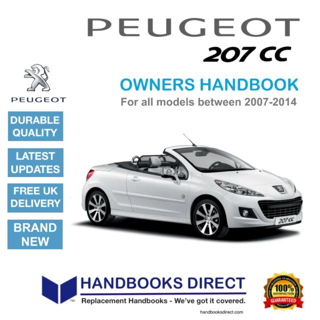 Peugeot 308 Cc Owners Manual Handbook For Sale Ebay