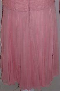 CEIL CHAPMAN 1960s Pink Chiffon Bodice Cocktail D… - image 7