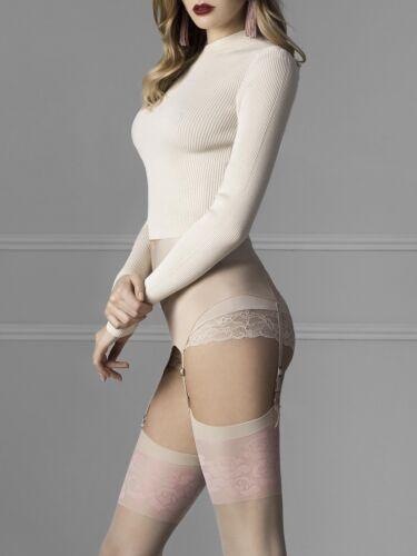 Fiore Blush 20 Denier Romantic Stockings Beautiful Delicate Pink Floral Finish