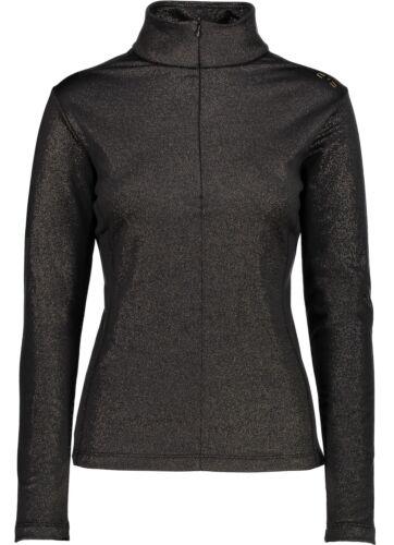 CMP Damen Skirolli WOMAN SWEAT 3E12476 schwarz/gold Funktionsshirt Bekleidung Skipullover